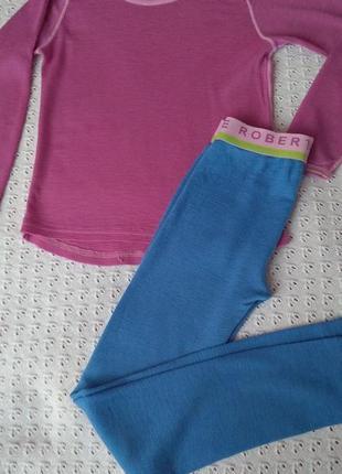 Термобілизна з шерсті мериноса комплект реглан штани термобелье леггинсы термо