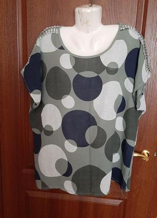 Блузка в горох размера 58-60.