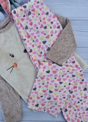 Домашний комплект,плюшевая кофточка + флисовые штанишки,тёплая пижама