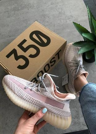 Шикарные женские кроссовки adidas yeezy boost 350 v2 synth reflective
