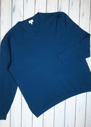 💥1+1=3 мужской ярко синий свитер next, размер 52 - 54, большой размер