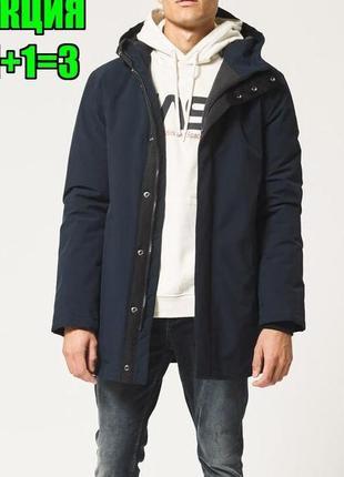 💥1+1=3 шикарная плотная теплая шерстяная мужская куртка парка next, размер 44 - 46