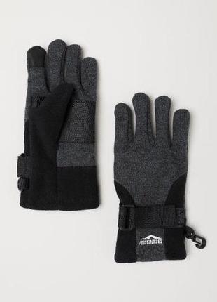 Перчатки h&m mountain discovery на мальчика 12-14 лет с сенсорными пальцами