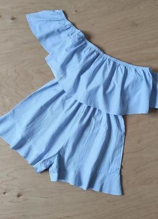 Комбинезон ромпер шорты юбка с открытыми плечиками  petites