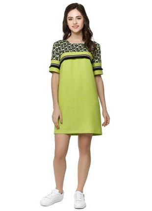 Оригинальное салатовое платье тм nenka