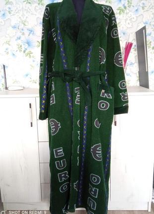 Длинный мужской флисовый халат