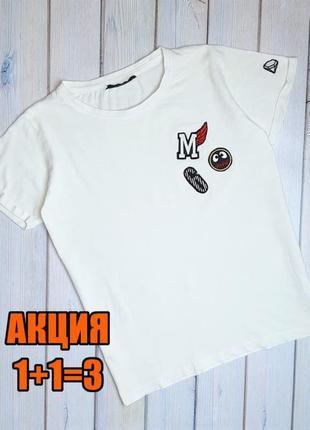 💥1+1=3 модная молочная женская футболка хлопок sisters point, размер 44 - 46