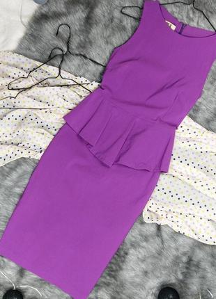 Платье футляр чехол с баской vesper