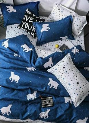 Комплект постельного белья бязь голд, белый медведь