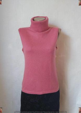 Фирменный jakes голф/водолазка на 50 % шелк и 50 % кашемир в розовом, размер л-ка