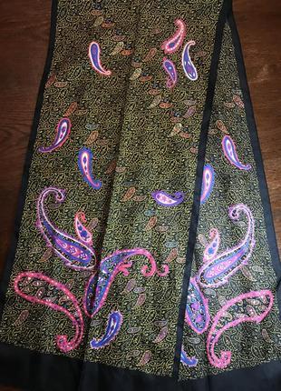 Тонкий шарф шарфик винтажный винтаж италия italy