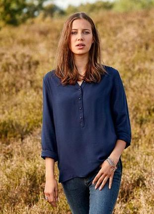 Вискозная блуза -туника размер евро 40 тсм tchibo