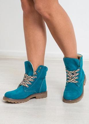 Черевики замшевi р36-41 чоботи ботинки натуральная замша сапоги