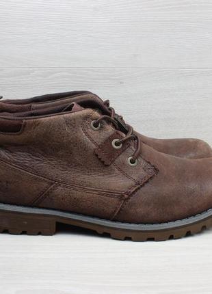 Мужские кожаные ботинки cat оригинал, размер 44 (caterpillar)