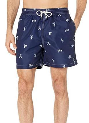 Мужские плавки шорты polo ralph lauren оригинал синие для плаванья
