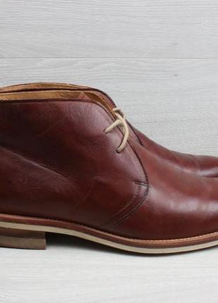 Мужские кожаные ботинки russell & bromley, размер 41 (полуботинки, дезерты, desert boots)