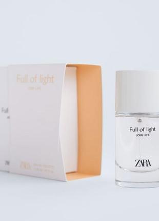 Туалетная вода для женщин zara full of light edt 30 ml