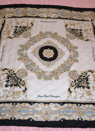 Vip шовковий платок jean paul classique 84*85 оригінал франція