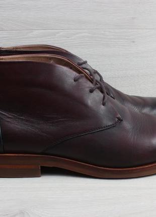 Кожаные мужские ботинки hudson, размер 44 (полуботинки, дезерты)