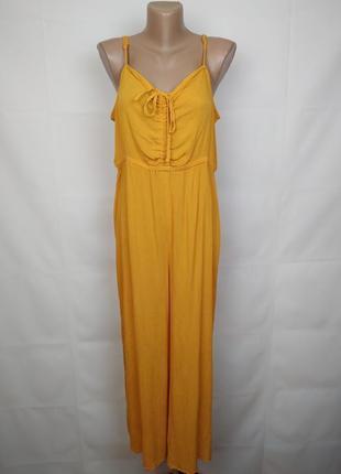Комбинезон брючный кюлот модный новый желтый большого размера asos uk 18/46/xxl