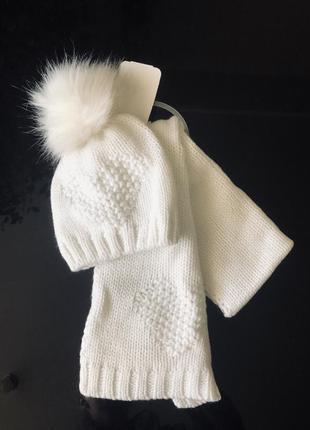 Комплект шапочка и шарфик chicco 12-15 месяцев