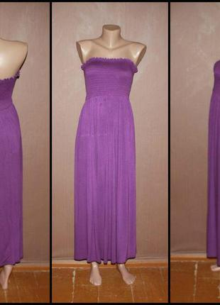 №357 стильное макси платье бандо.