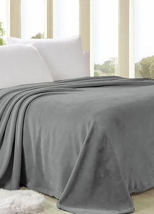 Плед плюшевый серый english home 150/200 см