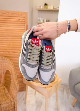 Женские кроссовки  adidas zx 500 rm grey