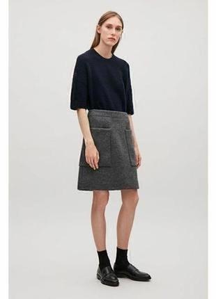 Cos фирменная юбка с большими карманами