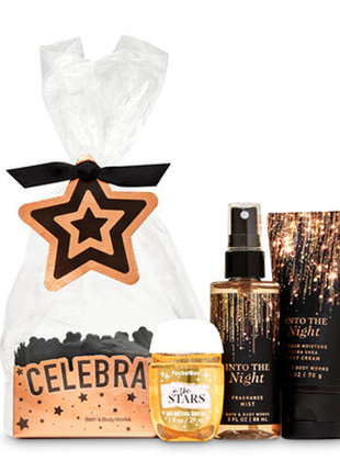 Набор bath and body works into the night mini gift set