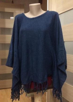 Blugirl классный свитер в стиле пончо оригинал  премиальный бренд