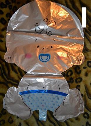 Шарик фольгированный 49х75 см мальчик, девочка