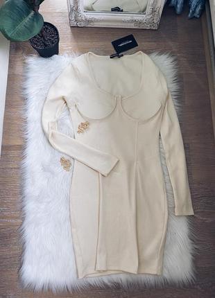 Платье с корсетным верхом1 фото