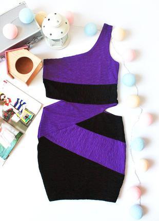 Цены снижены! красивое облегающее платье на одно плечо, с вырезами по бокам jane norman
