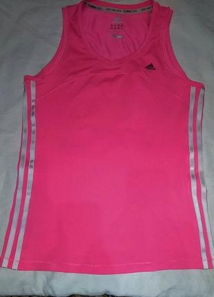 Майка спорт.м adidas ярко-розовая,оригинал