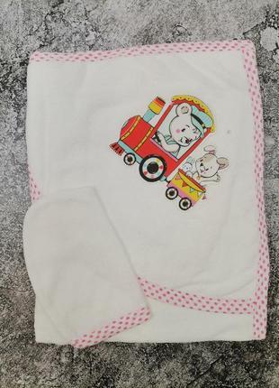 Детское полотенце уголок для девочки рушничок дитячий для дівчинки