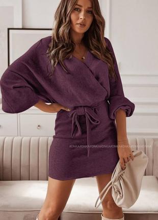 Шикарнейшее теплое ангоровое платье