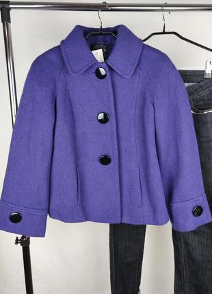 Стильное пальто полупальто жакет f&f сербия шерсть этикетка