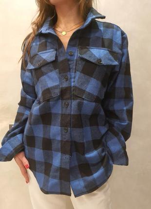 Рубашка женская в клетку 44-48 размер