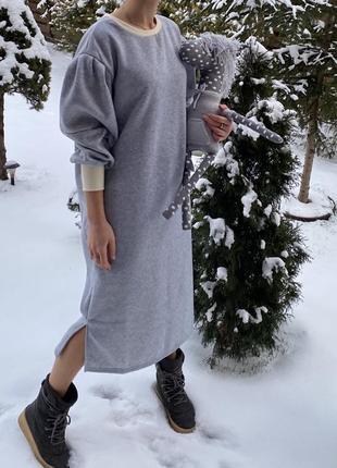 Платье на флисе 2021