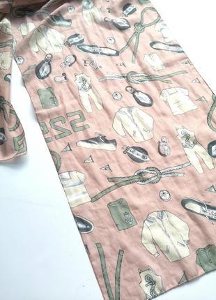 Весёлый шарф с принтом одежды италия