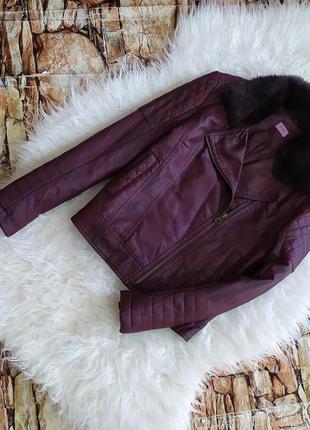 Косуха,кожаная куртка для девочки