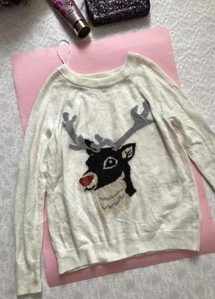 H&m свитерок новогодняя тематика , альпака s - размер недорого