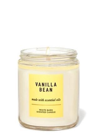 Аромасвеча bath&body works vanilla bean