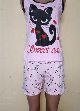 Пижама женская кошка.