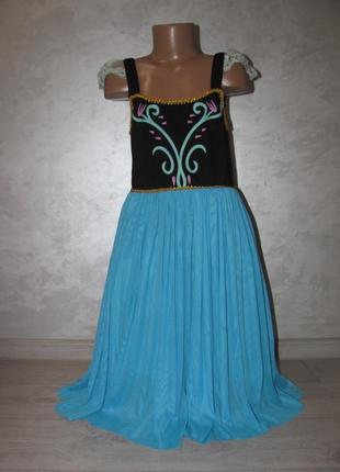 Платье с накидкой/болеро «анны» frozen «холодное сердце» р.7-9л.