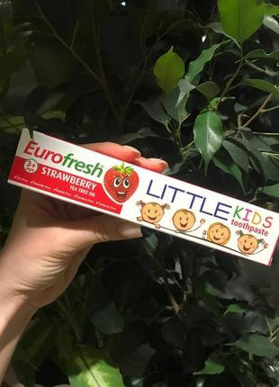 Детская зубная паста без фтора(от 3-х лет), клубника, farmasi,50g.