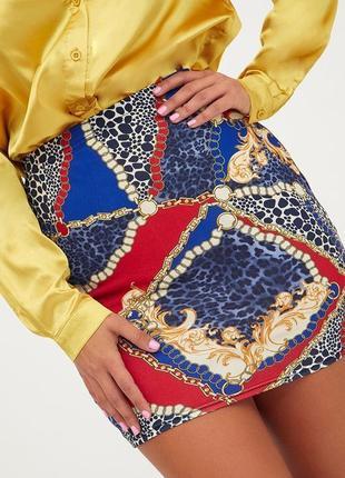 Стильная юбка модной расцветки