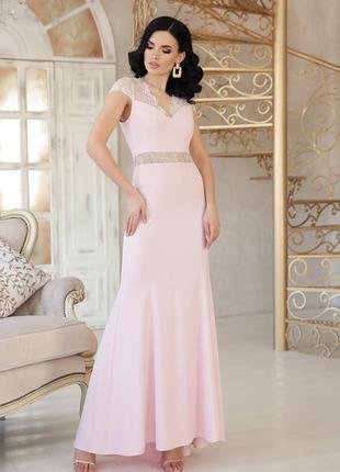 Красивое платье нежно розового цвета!