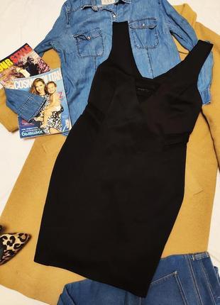 Atmosphere чёрное платье новое с сетчатыми боками по фигуре большое батал